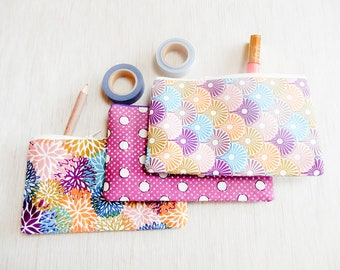 Make Up Bag/ Pencil Case/ Zipper Pouch/ Gift for Women/ Gift for Her/ Best Friend Gift/ Gift for Wife/ Birthday Gift/ Gift for Mom/ Pouch