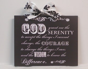 Serenity Prayer Inspirational Wooden Wall Plaque