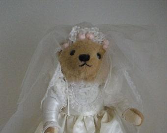 Teddy Bear Bride - Vintage Franklin Mint Vintage 1980's