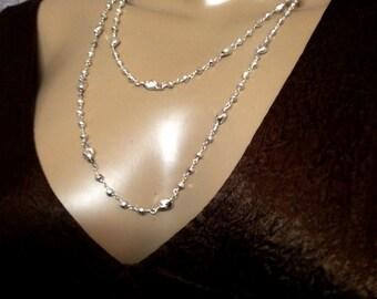 Silber Nugget Halskette-lange Halskette Silber vergoldet Pyrit und Nuggets  Doppel Halskette 62f0ec9db5