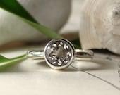 herkimer diamond ring - sterling silver