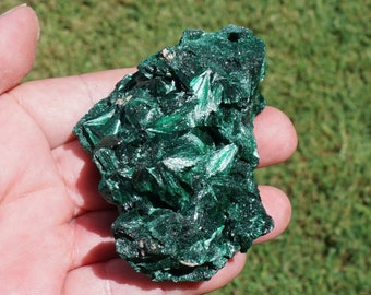 Malachite #20 ~ Large Raw Fibrous Malachite ~ Crystal Mineral Specimen ~ Great Quality ~ 3 x 2 x 1.6 Inches ~ 7 Ounces ~  198 Grams