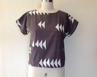 Graphite cotton top- XS