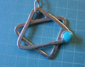 Kinetic Star of David, Jewish Star in Sterling Silver