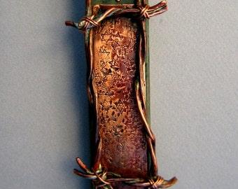 Holocaust Memorial Mezuzah Case Copper