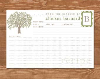 Personalized Recipe Cards 4x6 Custom Colors Bridal Shower Etsy