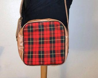 LAST CHANCE DEALS -- Square Red and Black Plaid Shoulder Bag