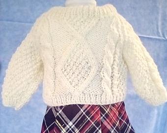 American Girl Plaid Skirt & Fisherman Sweater