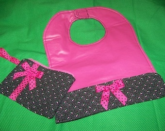 pdf Pattern Sale Toddler Bib and Wristlet with Immediate Download e-file