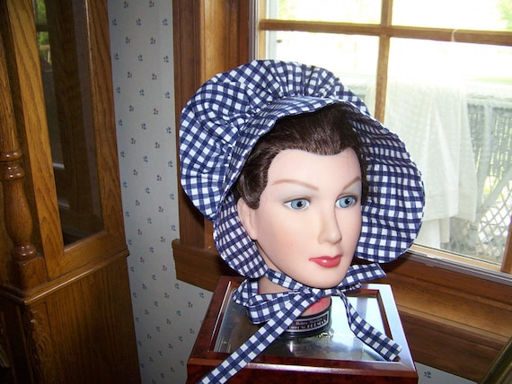 Ladies Adult Bonnet Costume pdf Pattern with Immediate  8dbe6dfedcc