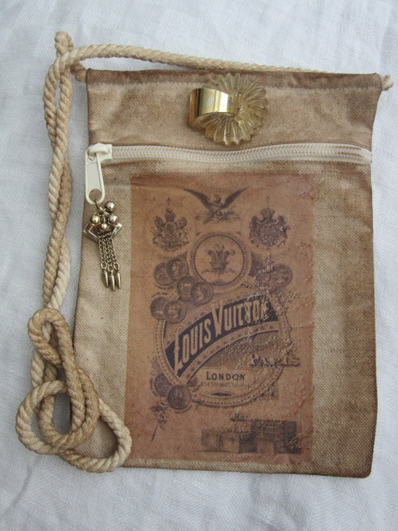 Vuitton Bag Crossbody Bag-Vintage Louis Vuitton Print-Art   Etsy 2caf3b0f86