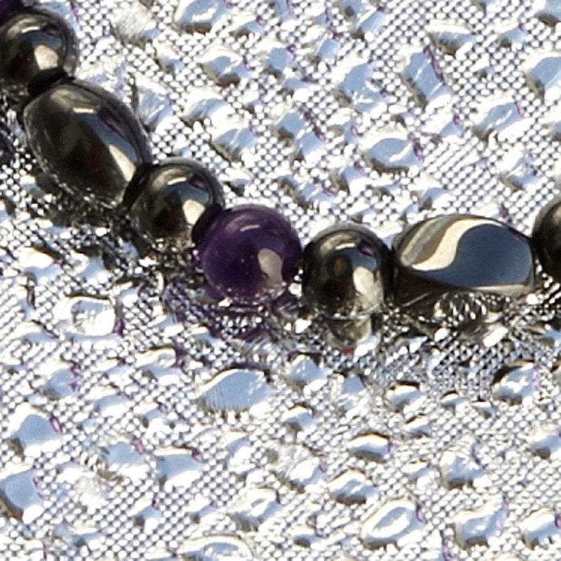 Amethyst and Magnetite Magnetic Bracelet By Happy and Healthy image 0