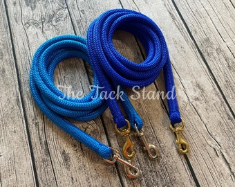 Reins for Horses Custom Mecate Reins Yacht Rope Reins Mecates Horse Tack Clinician Reins