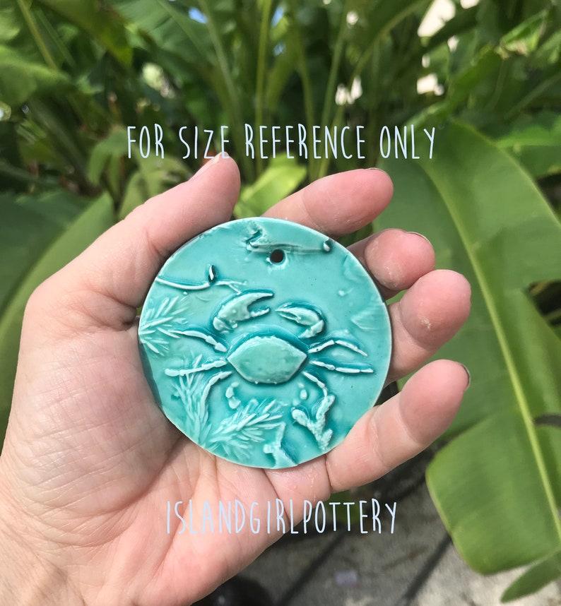 Aqua Starfish Ornament Sea star Christmas Tree Pottery Ornament Home Decor Free Shipping