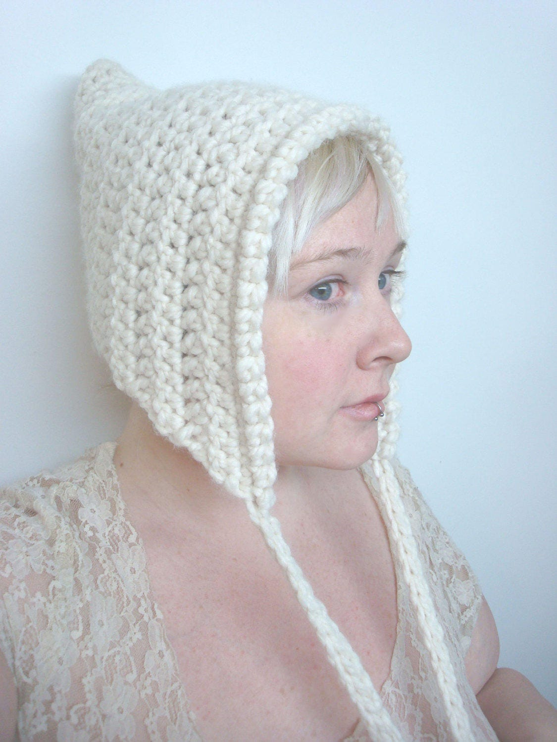 Crochet Pixie Hat Pattern - PDF - Elf Hood from EmilyMayKnits on ...