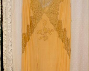 1930s Downton Abbey Slip Dress L XL