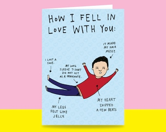 Greeting Card -  How I Fell In Love With You   Valentine's Day Card   Romantic Card