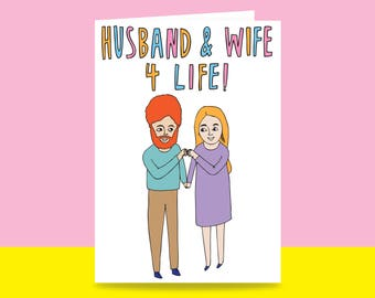 Greeting Card - Husband And Wife 4 Life | Valentine's Day Card | Romantic Card | Wedding Card