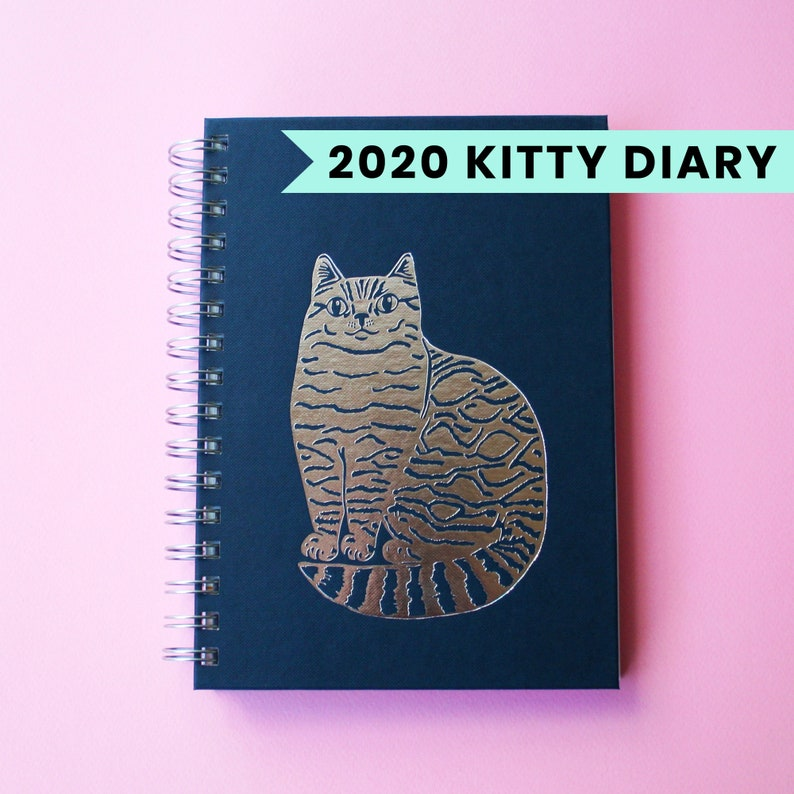 2020 Kitty Diary  2020 Planner  Cat Diary  Weekly Planner image 0