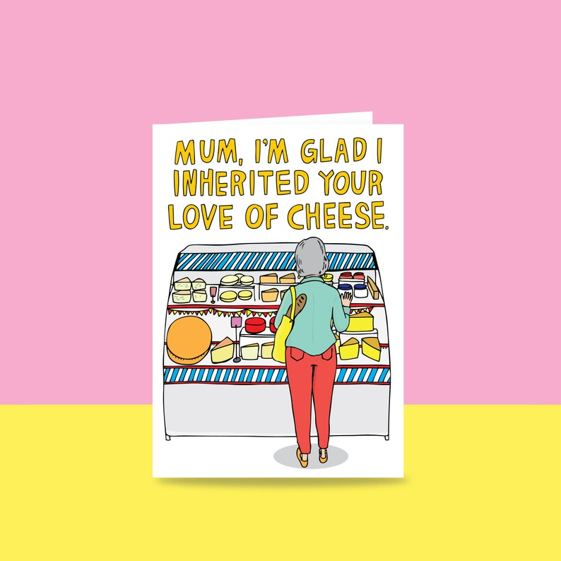 Mothers Day Card  Mum I'm Glad I Inherited Your Love Of image 0