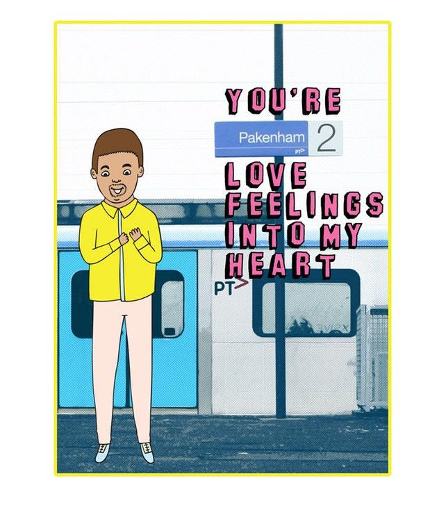 Melbourne Card - You're Pakenham Love Feelings Into My Heart