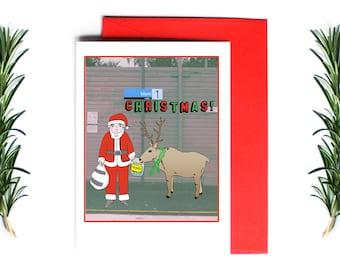 Christmas Card Melbourne Range - Merri Christmas   Greeting Card   Holiday Card   Melbourne Christmas Card