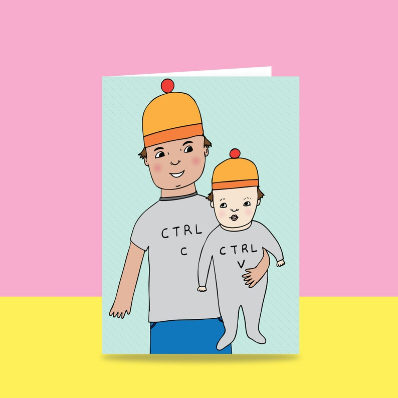 Father's Day Card  Ctrl C Ctrl V  Card For Dad  Card image 0