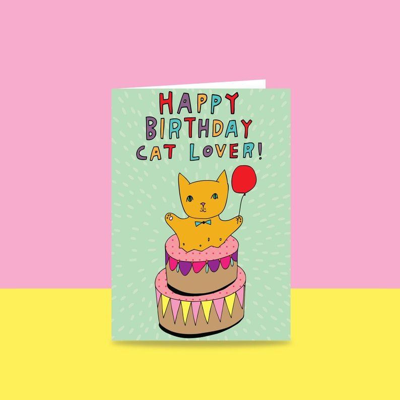 Birthday Card  Happy Birthday Cat Lover  Card For A Cat image 0