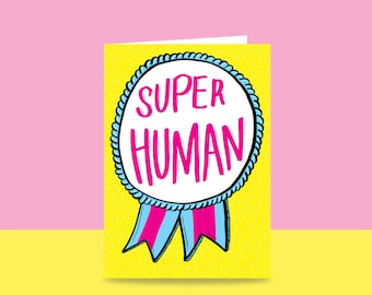 Thank You Card - Super Human | Congratulations Card