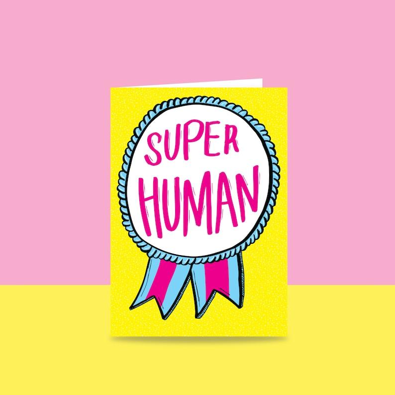 Thank You Card  Super Human  Congratulations Card image 0