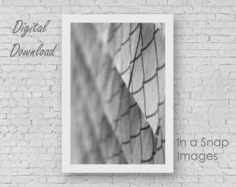 Shadow on Shingles - Black and White, Instant Digital Download, Home Decor, Office Design, Soft Grey, Pewter, Royalty Free, Stock, Simple