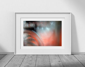 """Digital Download Photography, Abstract Download, Abstract Photography, Orange Decor, Instant Download, High Resolution, """"Tangerine Light"""""""
