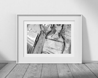 Four Paintbrushes - Digital Download Photography, Wabi-Sabi, Painter Gift, Artist Gift, Desktop Background, Studio, Art Card Photos, Paint