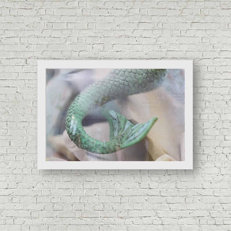 Mermaid Decor Mermaid Tail Beach Decor Fantasy Decor image 0