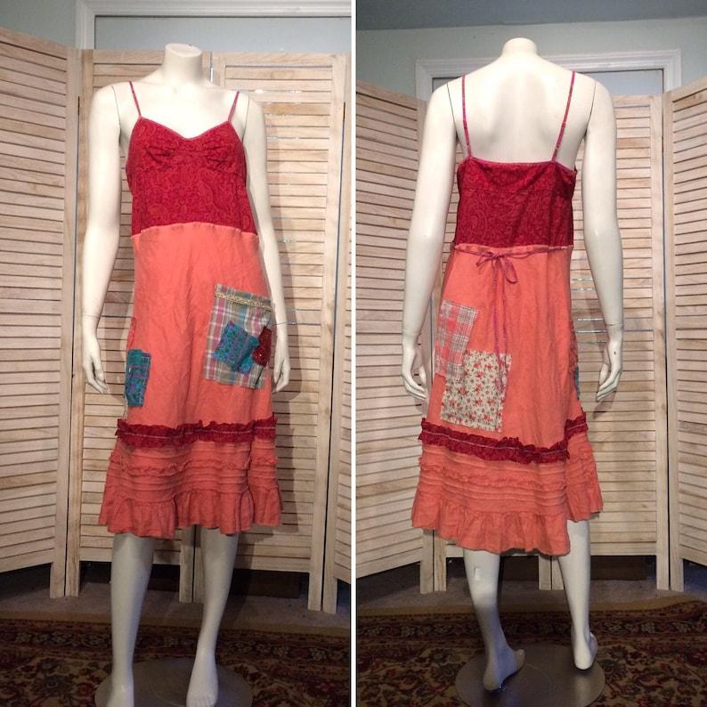 25cf9b6d4e2 Upcycled Dress Shabby Chic Upcycled Clothing Romantic