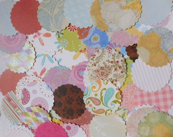 Spring is in the Air Scalloped Paper Posies - Set of 100
