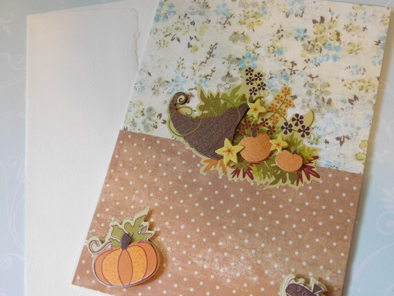 Fall Autumn or Thanksgiving Greeting Card - 5 X 7