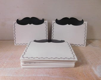 Mustache Hipster Place Cards or Food Tent Labels - Two Dozen