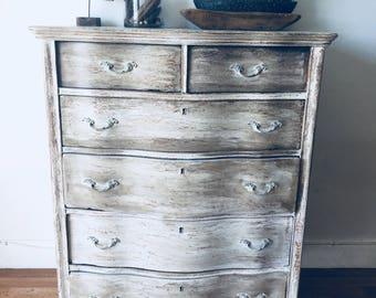 distressed antique furniture. Vintage French Style Distressed Antique White And Brown Furniture  Coastal Living Dresser I