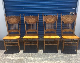 Farmhouse Chairs Vintage Wood Rustic Dining Chairs Set Of 4
