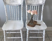 White antique dining chairs lion face chairs chairs farmhouse chairs custom painted chairs shabby chic chairs kitchen chairs cottage white