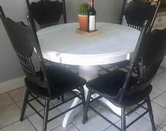 Farmhouse table set kitchen set kitchen table and chairs   Etsy