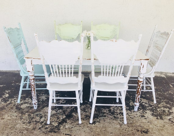 farmhouse table set kitchen set kitchen table and chairs painted table and  chairs dining table set shabby chic table and chairs 6 chairs