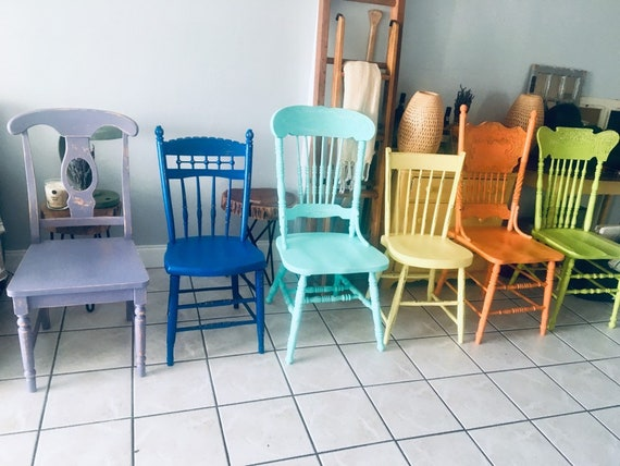 Groovy Mismatched Whshabby Chic Dining Chairs Set Of 10 Custom Colors Available White Forskolin Free Trial Chair Design Images Forskolin Free Trialorg
