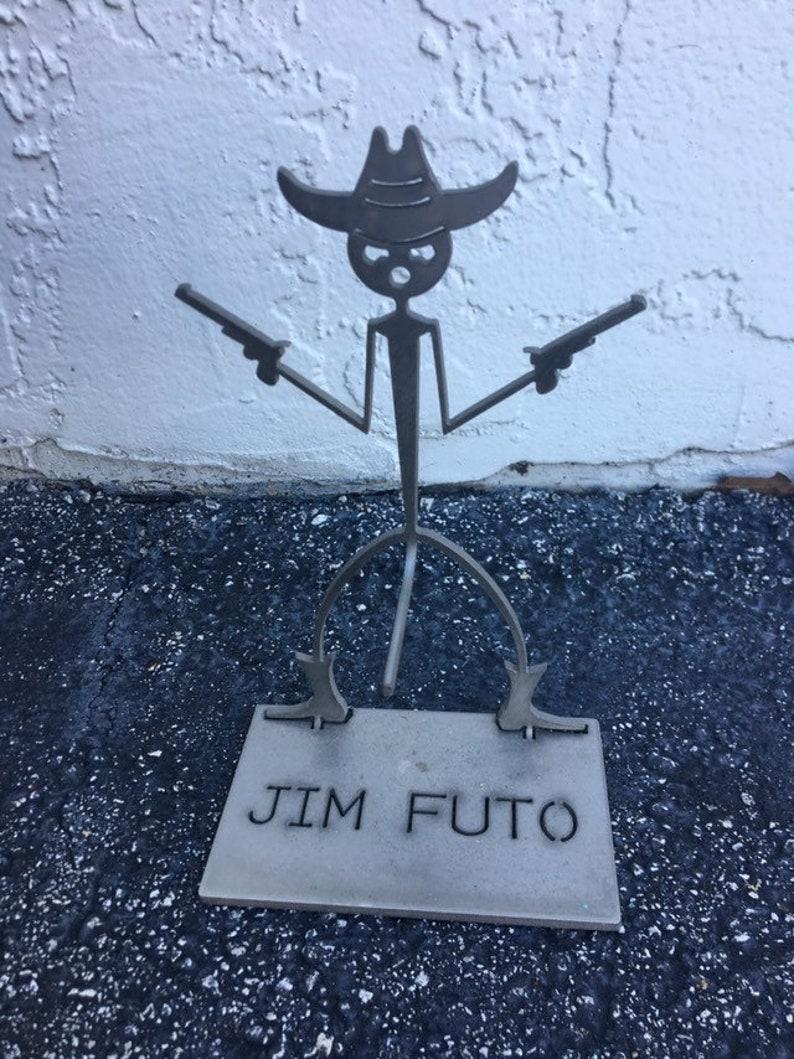 Vintage western metal figure gift statue