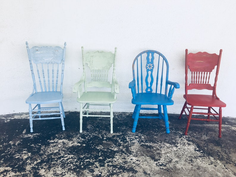 a1ecc0af7eb0 Dining chairs vintage chairs farmhouse chairs custom painted