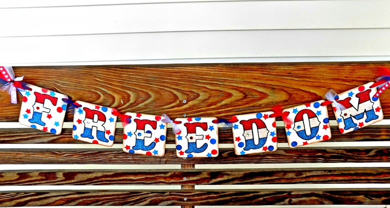 4th of July Banner-Freedom Banner-Patriotic Banner-Independence Day-Patriotic Party Decor-July 4th Party Sign-July 4th Photo Prop-July 4th