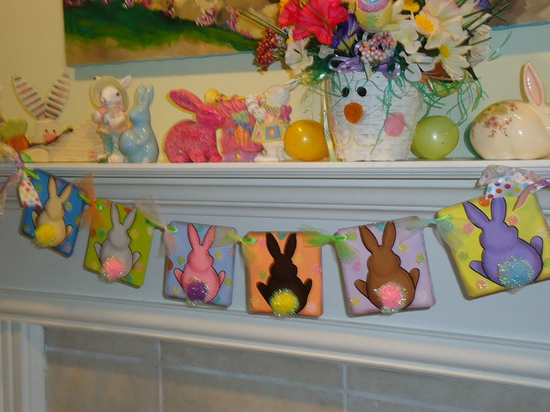 Easter Banner-Bunny Butts Banner-Easter Home Decor-Easter Signs-Easter Decorations-Nursery Decor-Easter Gift-Easter Bunny Banner-Easter