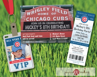Wrigley Field Chicago Cubs Marquee Invite, Chicago Cubs Ticket Card