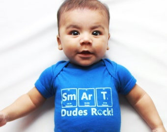 Science Baby Clothes//Science Playsuit//Science Kids Shirt/Chemistry Shirt//Geeky Nerd Shirt//Science Gift Bodysuit//Smart Dudes Rock